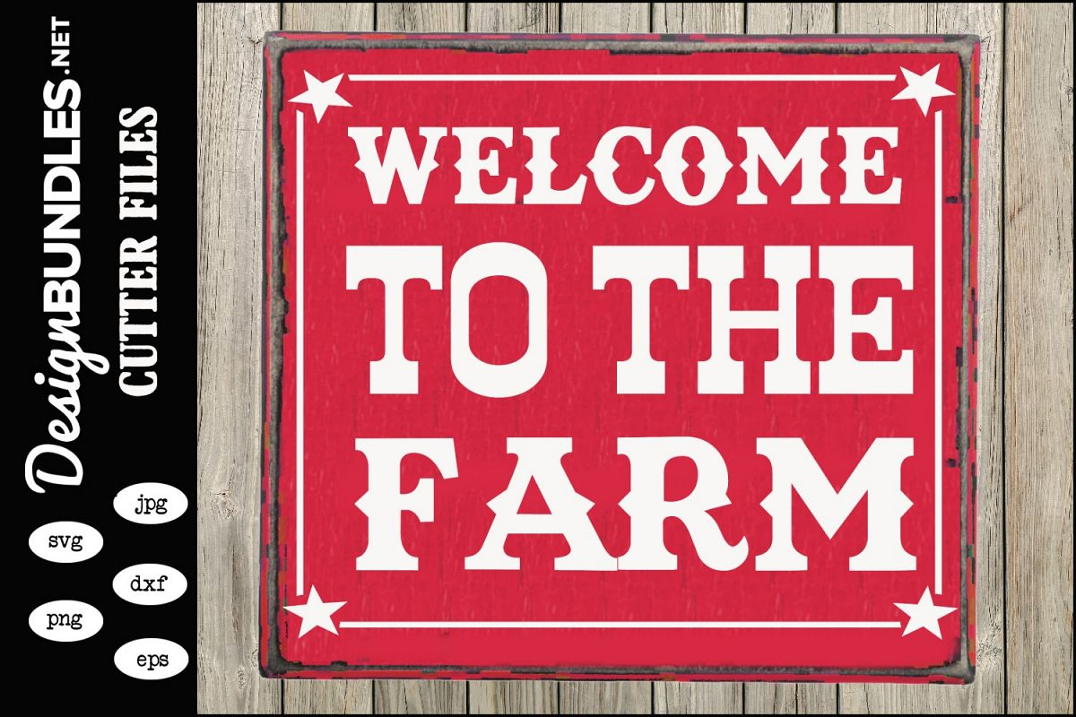 Welcome To The Farm SVG example image 1