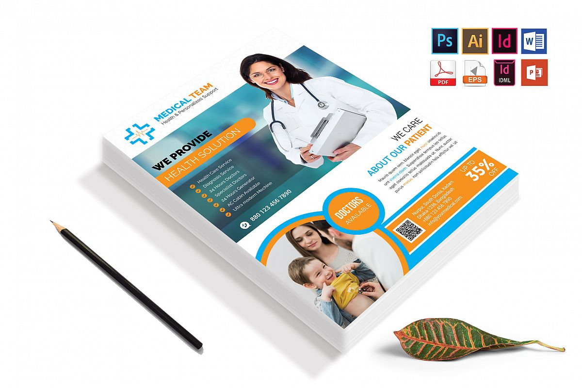Doctor & Medical Flyer. Vol-08 example image 1