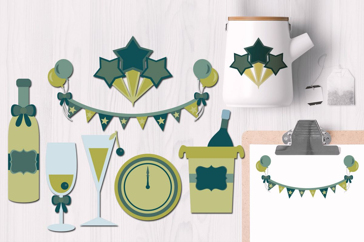 New Year's Toast Illustrations example image 1