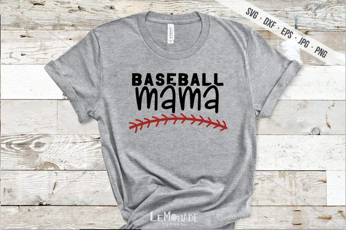 Baseball Mama SVG, Baseball Mom Cutting File, SVG, DXF example image 1