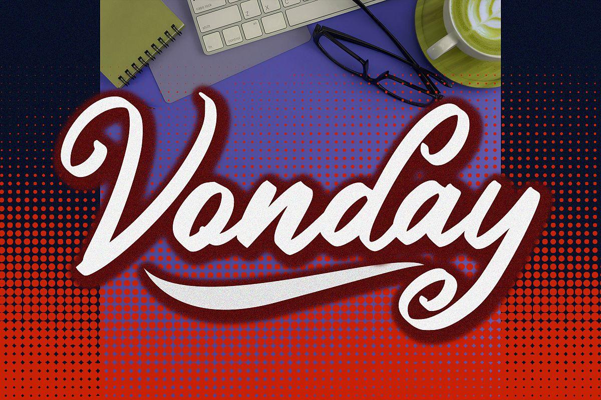 Vonday Font example image 1