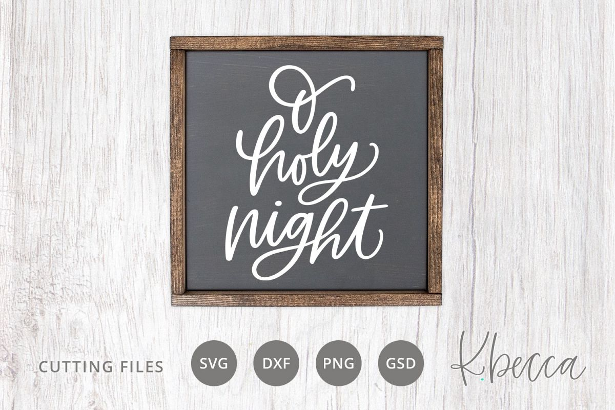 O Holy Night Christmas Tree SVG Cut Files example image 1