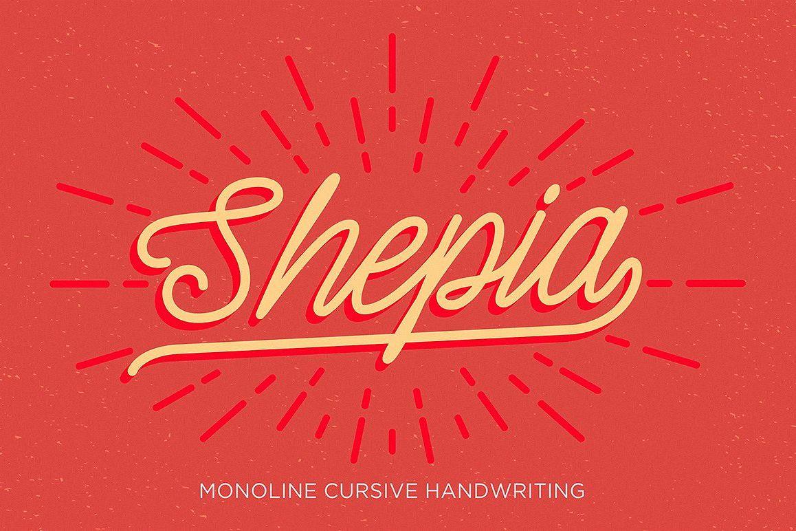 Shepia Script example image 1