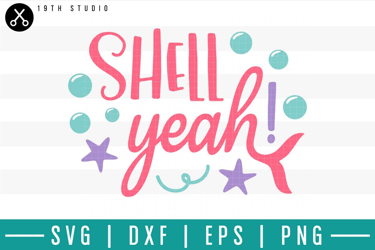Shell yeah SVG| Mermaid SVG example image 1