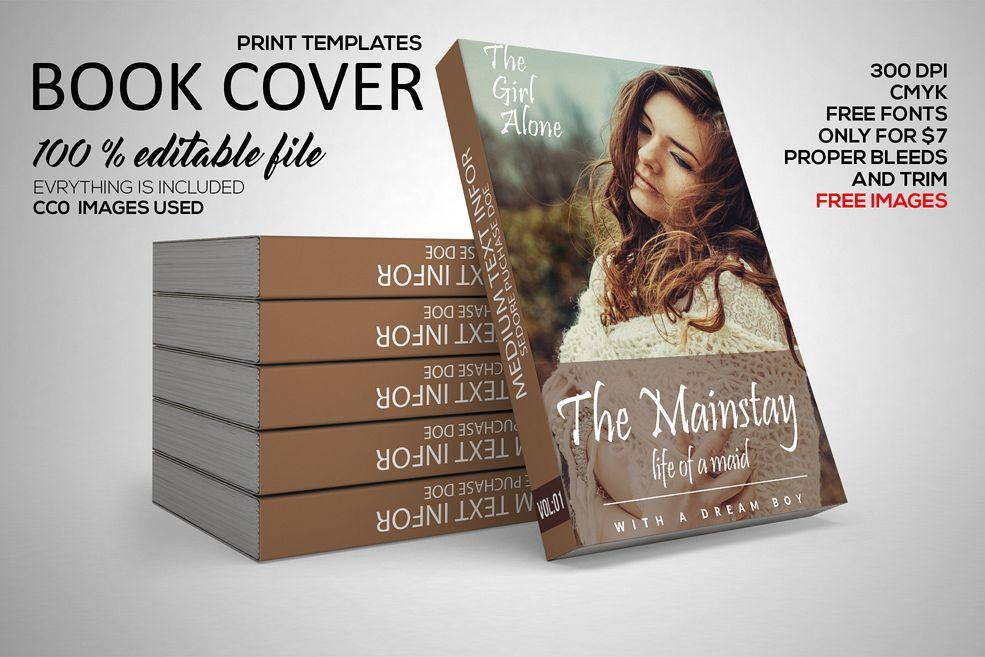 Book Cover Template Gimp ~ Novel book cover template by designhub design bundles