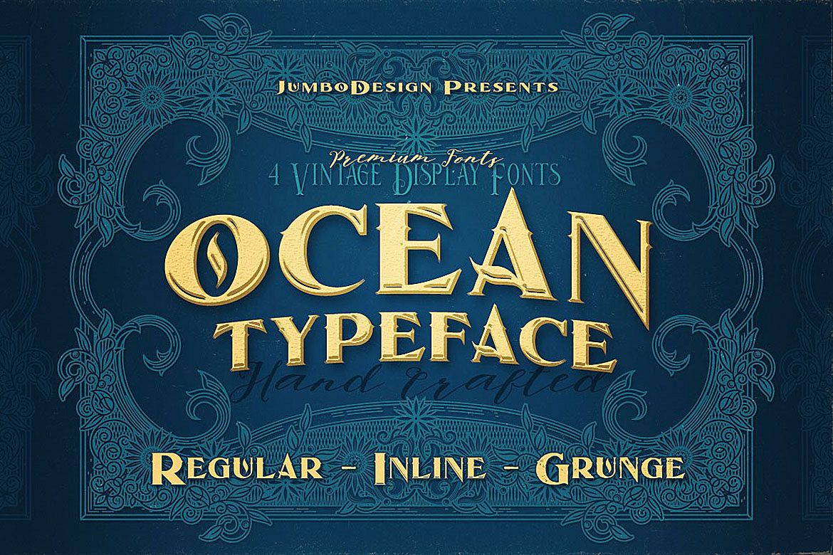Ocean - Display Font example image 1