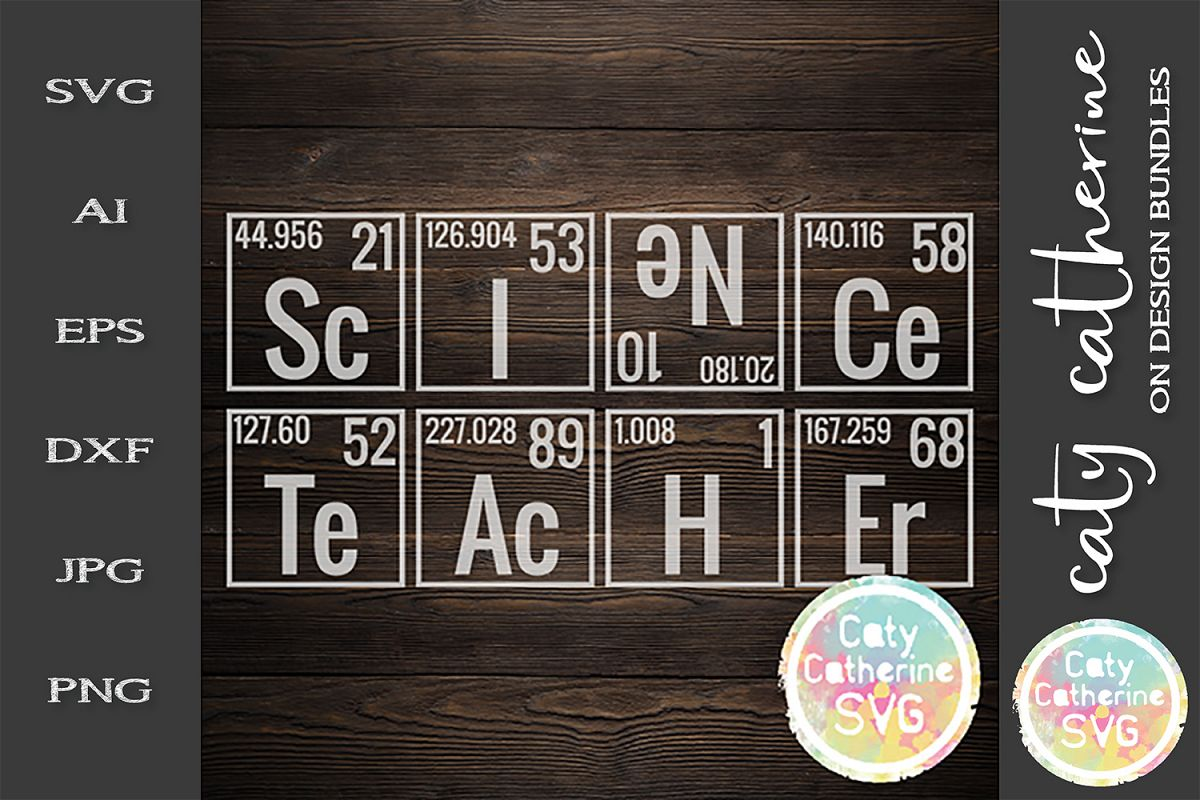 Periodic Table Science Teacher SVG Cut File example image 1