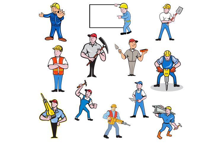 Construction Worker Set example image 1