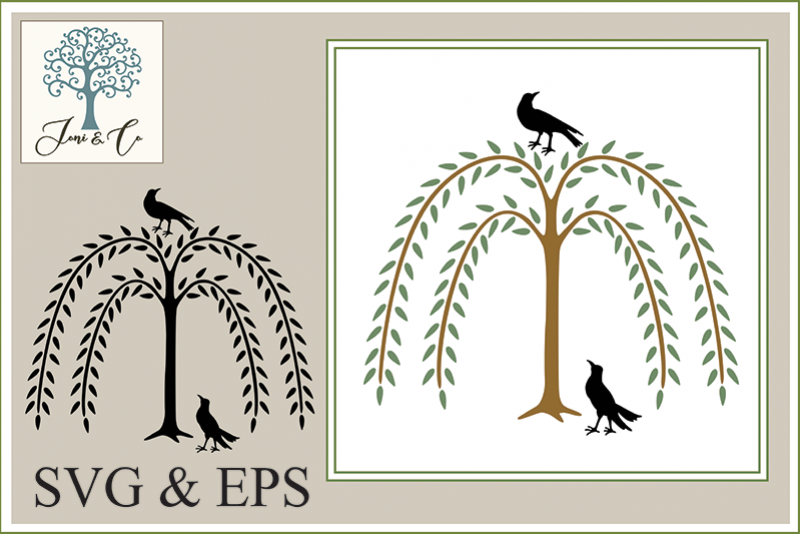 Willow with Two Crows example image 1