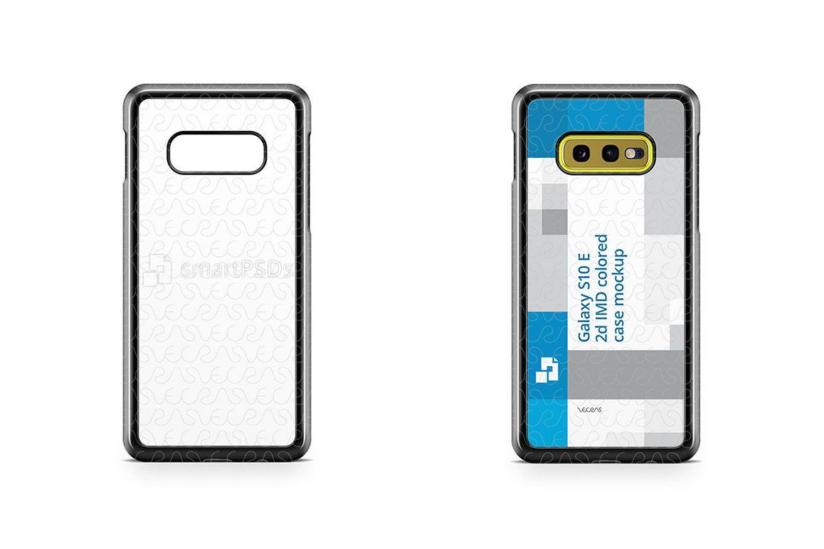 Samsung Galaxy S10 E 2d PC Colored Case Design Mockup 2019 example image 1