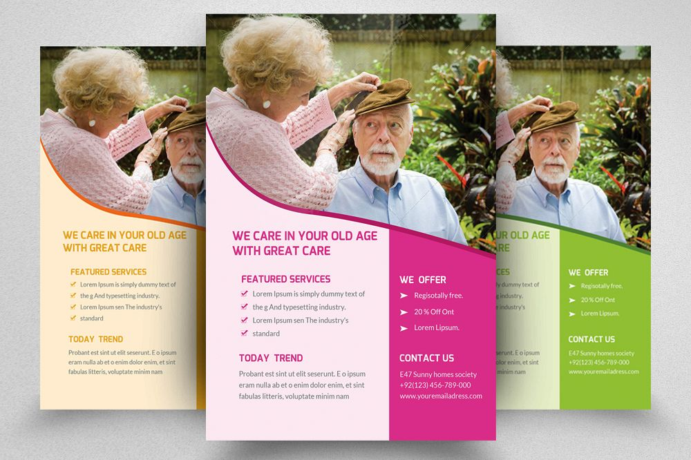 Senior Care Home Flyer Template