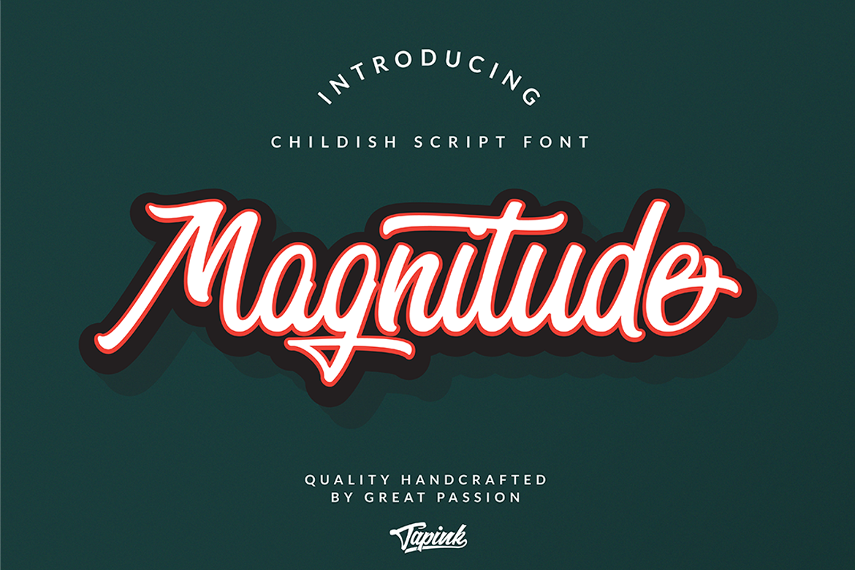 Magnitude Script Font example image 1