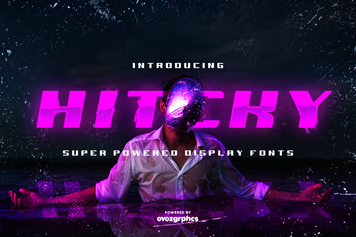 HITCKY SUPER POWERED DISPLAY FONT example image 1