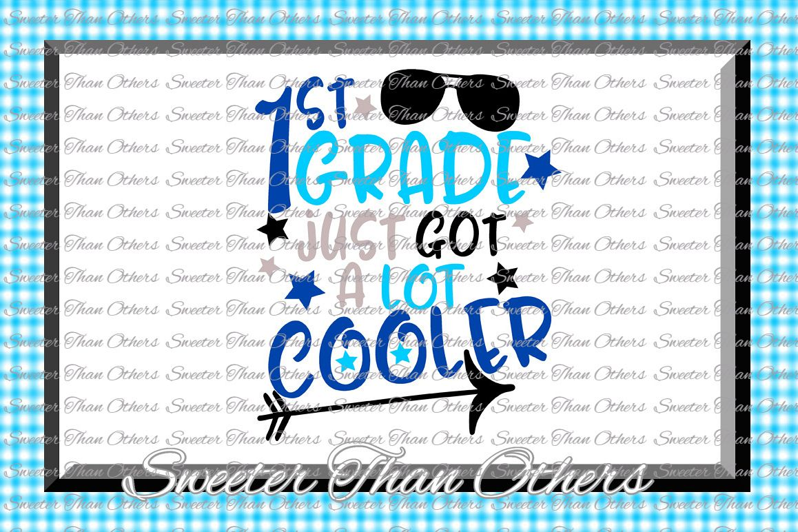 First Grade Cooler SVG 1st Grade cut file Last Day example image 1