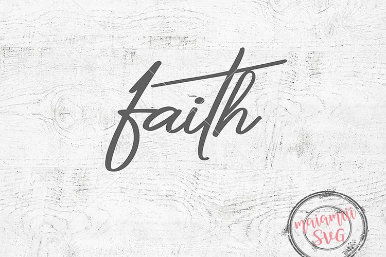 Faith Svg, Faith Clipart, Faith Cross Svg, Jesus Svg example image 1