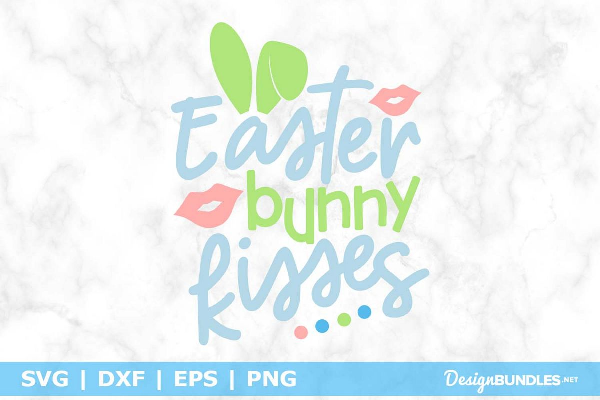 Easter bunny kisses SVG File example image 1