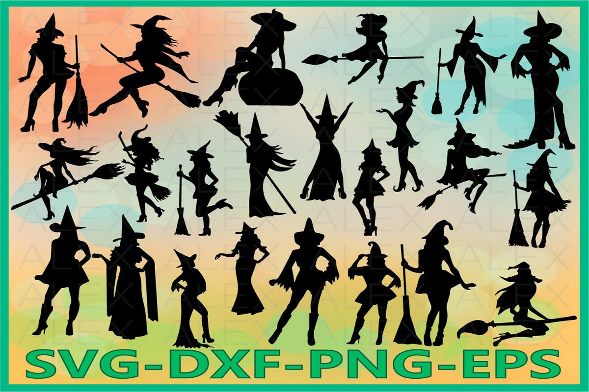 Halloween Witches, Witch Svg, Halloween Witch png example image 1