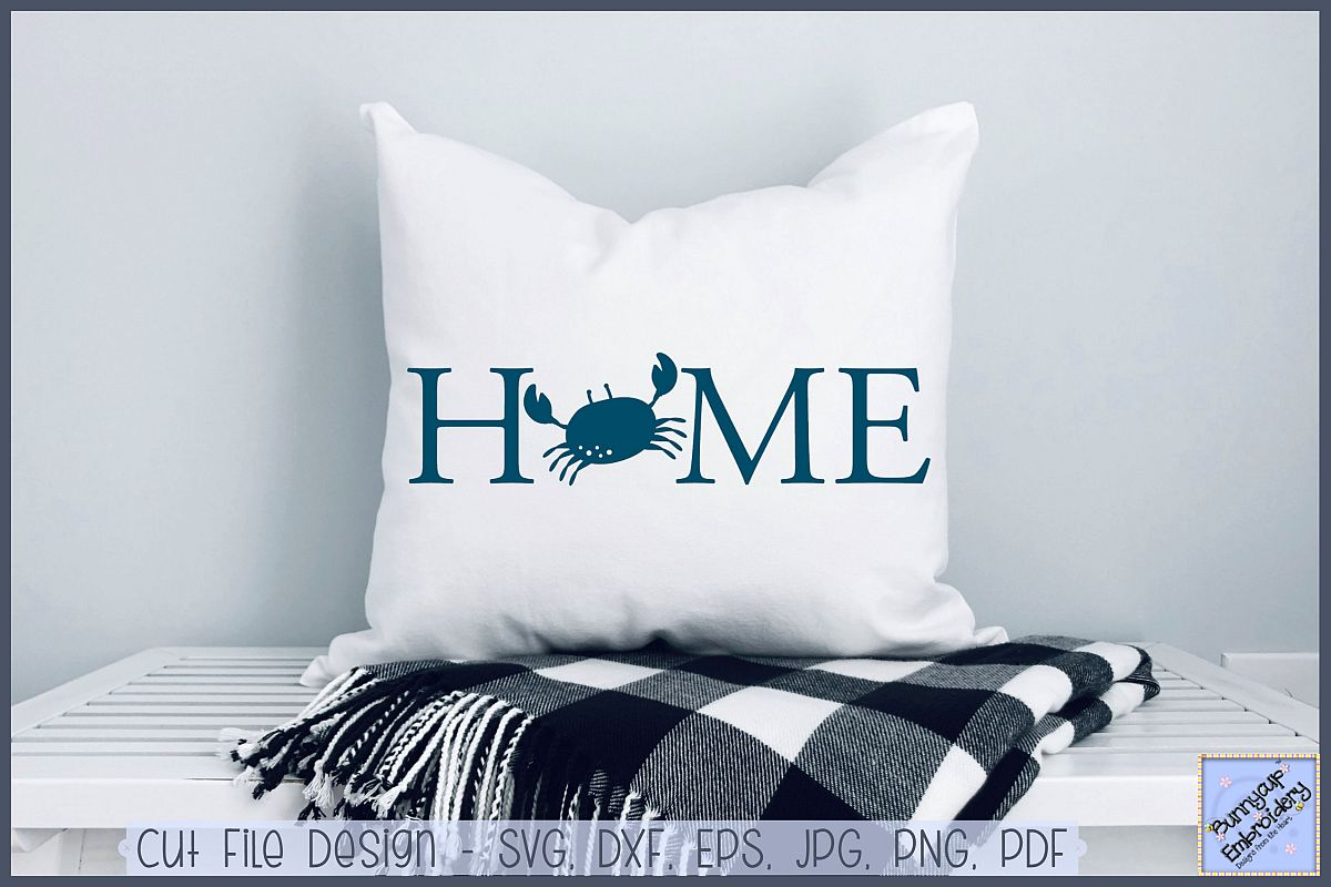 Home With Crab - SVG, Clipart, Printable example image 1