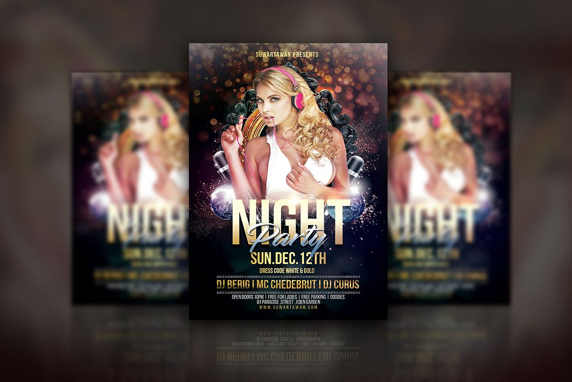 Night Party Flyer example image 1