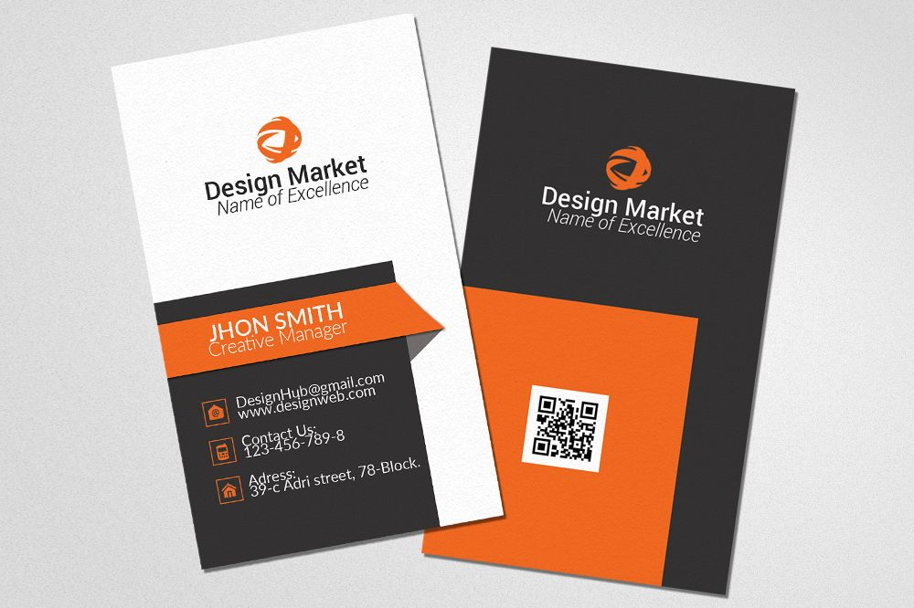 Professional Vertical Business Cards example image 1