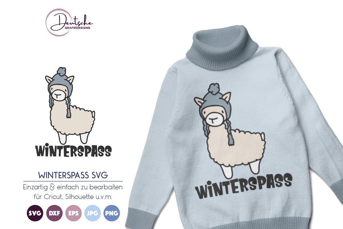 Lama SVG | Winterspass example image 1