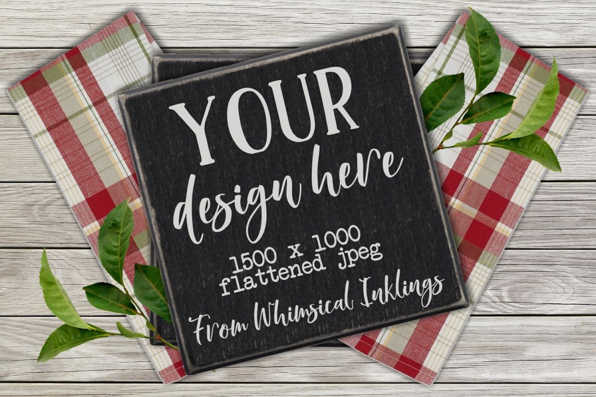 Black Rustic Sign Mock Up example image 1