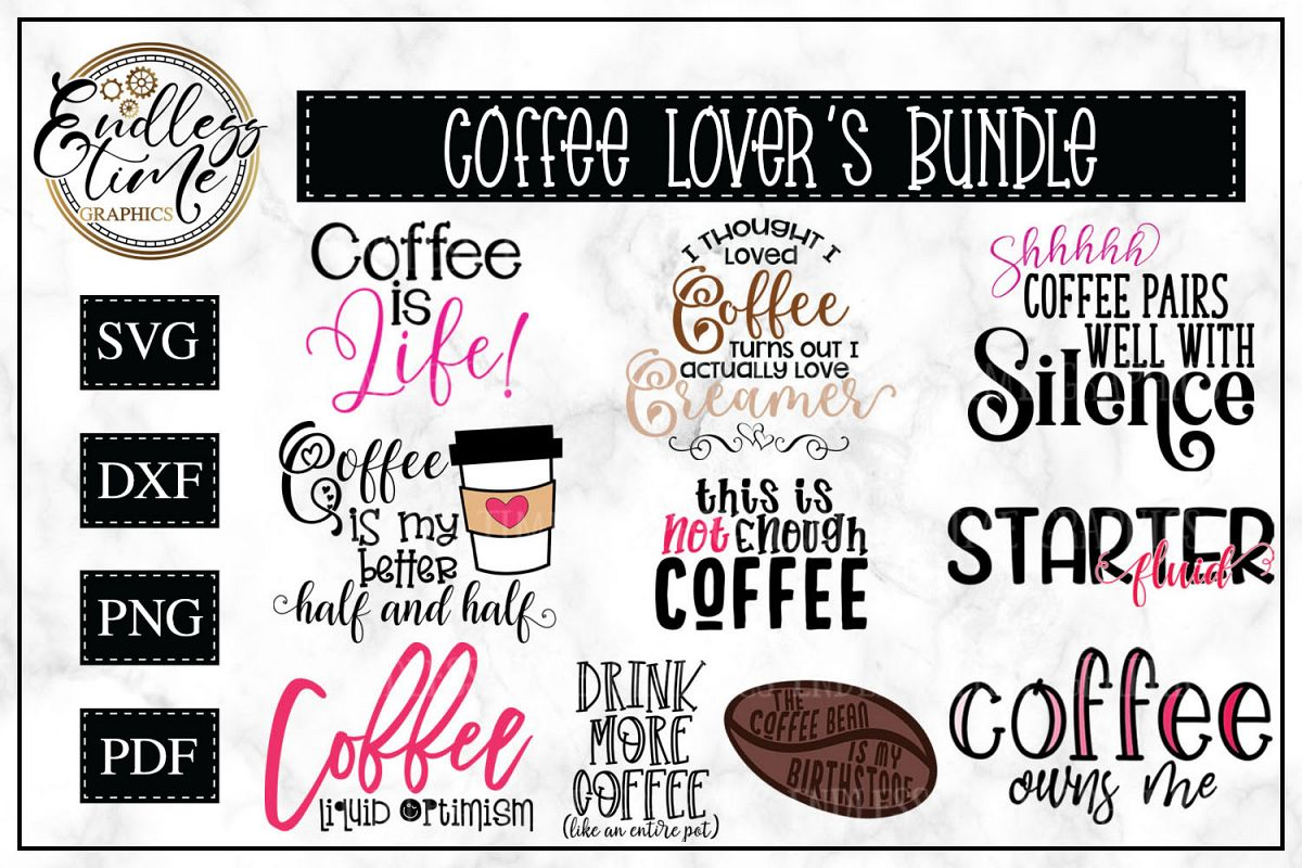 Coffee Lover's Bundle - 10 Funny Coffee Quotes example image 1