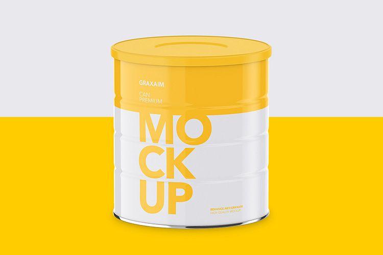 Milk Powder Can - High Angle Mockup example image 1