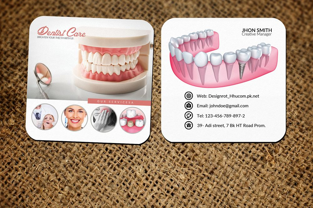 Dentist Care Mini Business Card example image 1