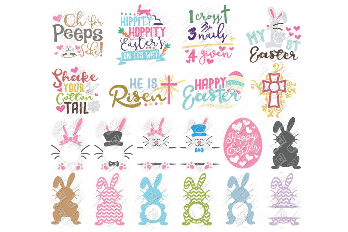 Easter SVG Bundle in SVG, DXF, PNG, JPG, EPS example image 1