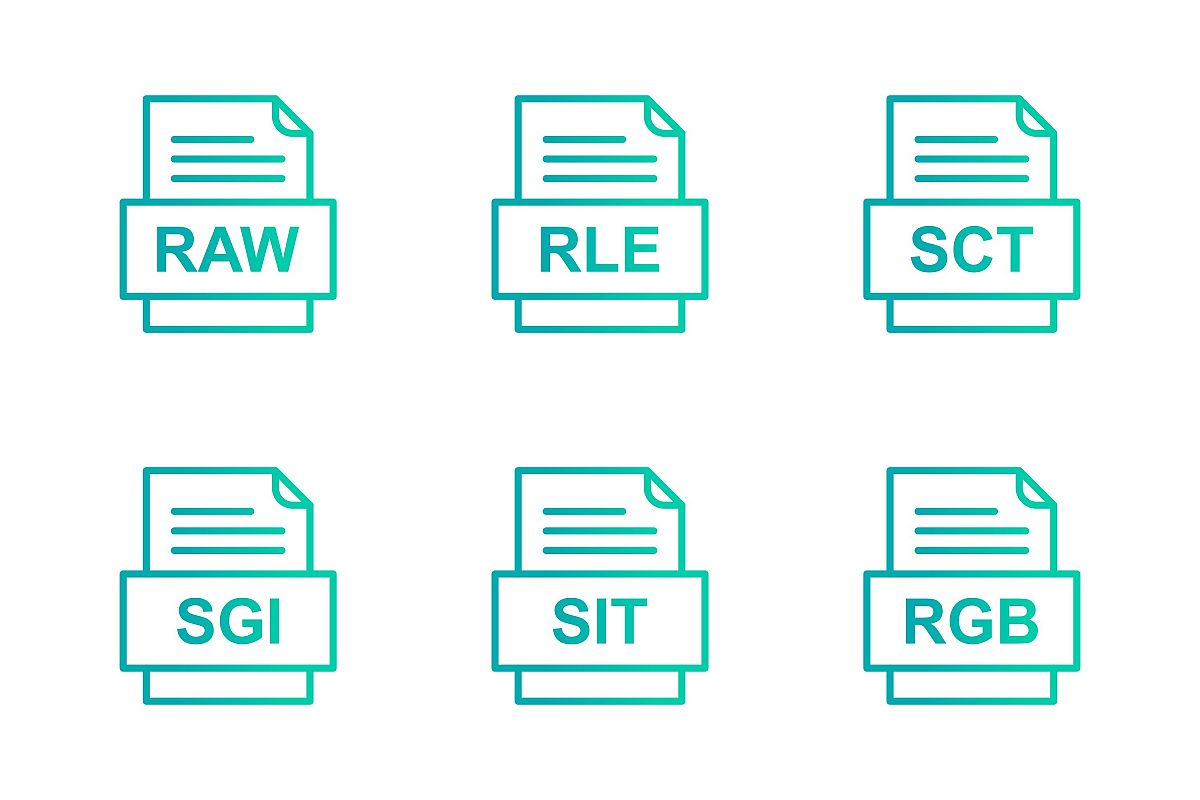 Set Of File Formats Icons example image 1