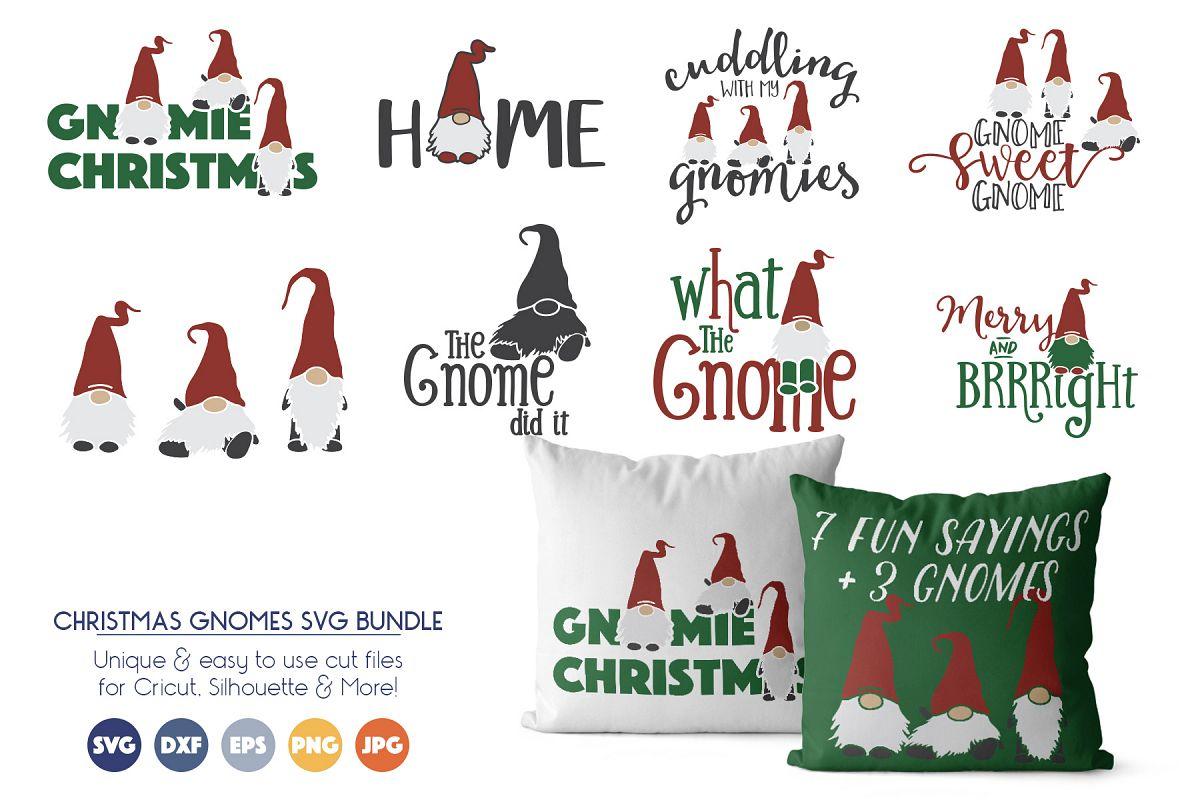 Christmas Gnomes Svg.Gnomes Bundle Fun Christmas Svg Bundle