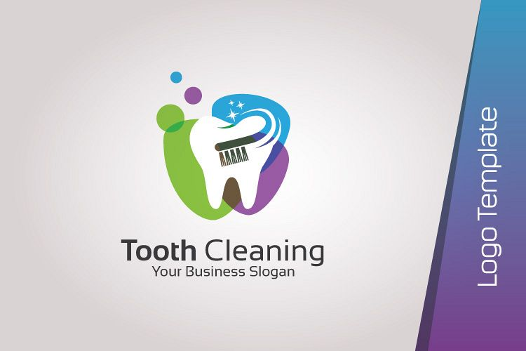 dental logo template tooth cleaning
