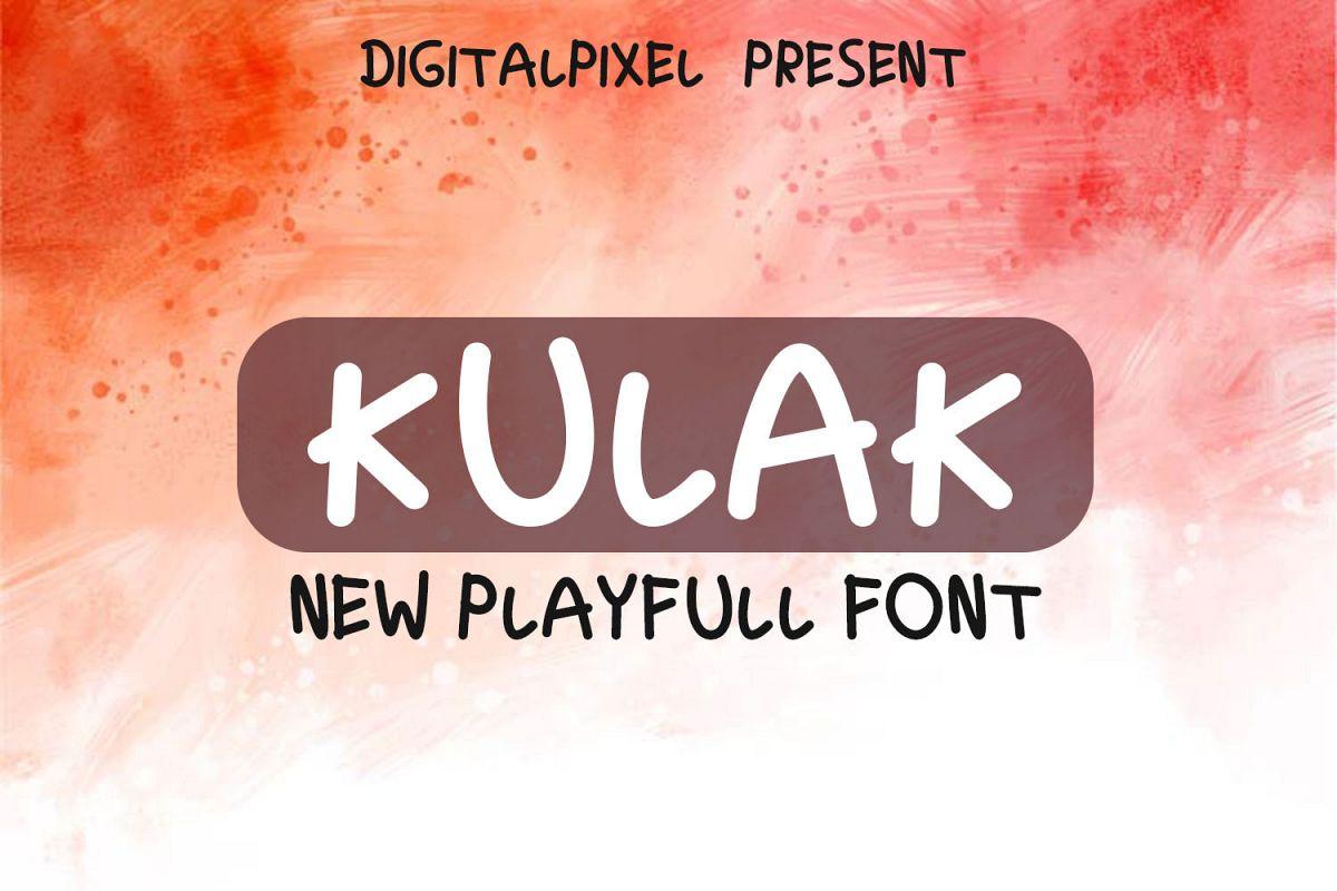 Kulak Display Playfull Font example image 1