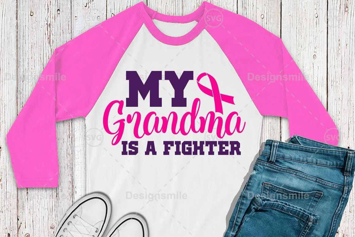 My Grandma Is A Fighter SVG Cut File | Cancer svg example image 1
