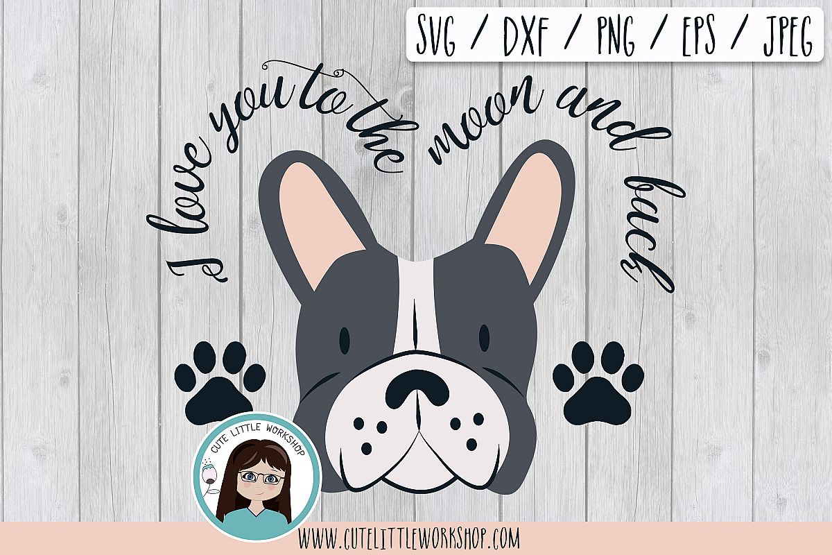 Boston terrier Grey svg, dxf, png, eps example image 1