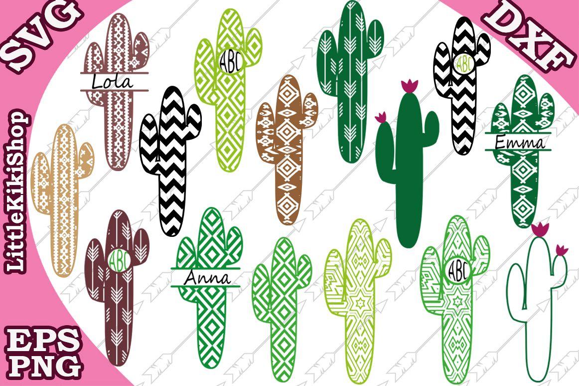 Cactus Monogram Svg, Bundle Monogram Svg, Western Svg example image 1