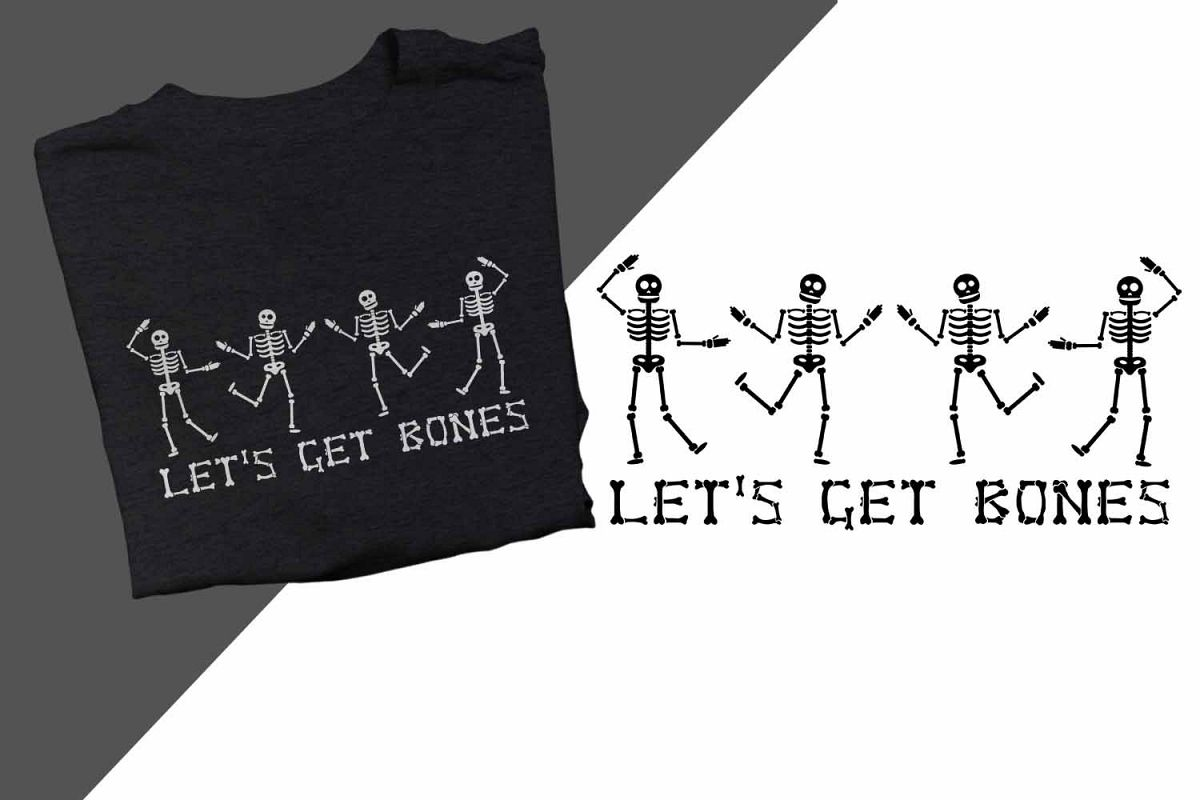 Let's get bones Halloween Printable example image 1
