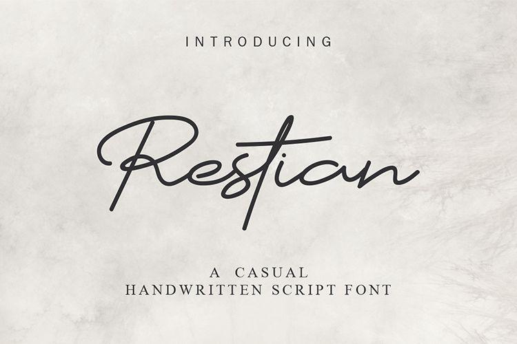 Restian Script Font example image 1