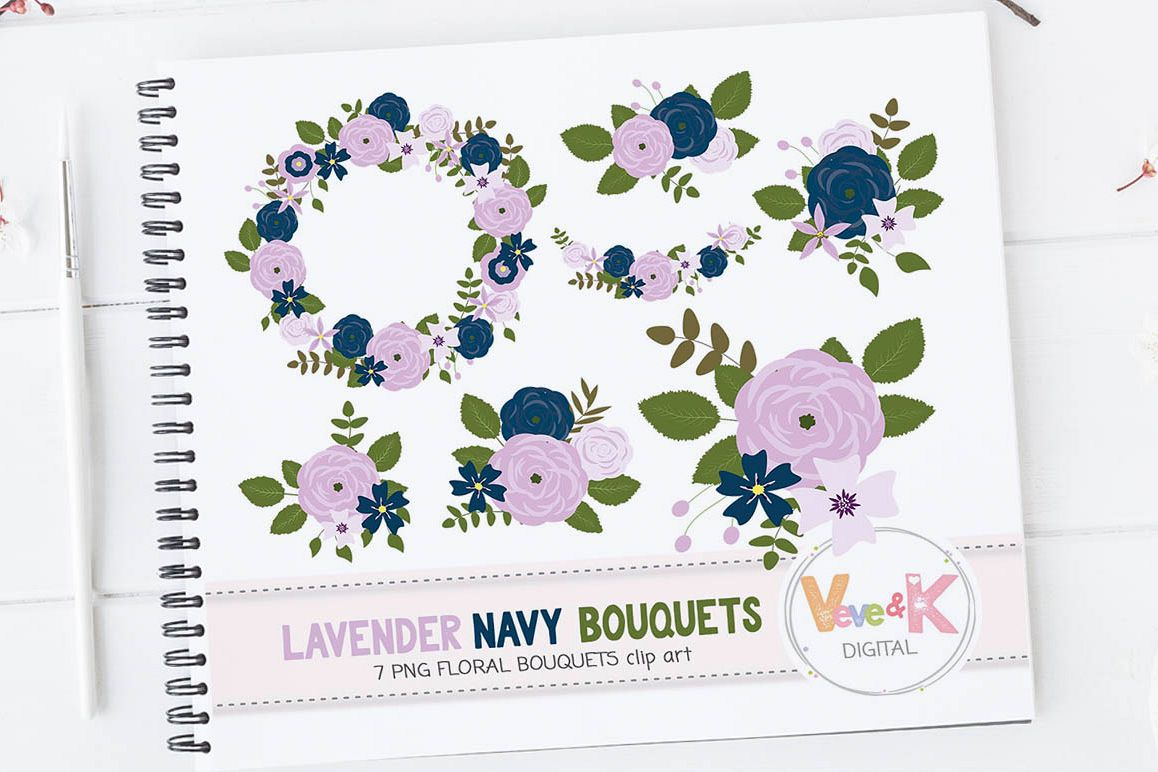 Floral bouquets clipart floral wreath clipart pink and navy floral bouquets clipart floral wreath clipart pink and navy flowers floral vector graphics izmirmasajfo