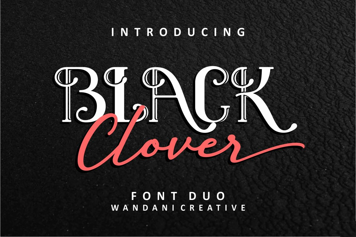 Black Clover | Font Duo example image 1