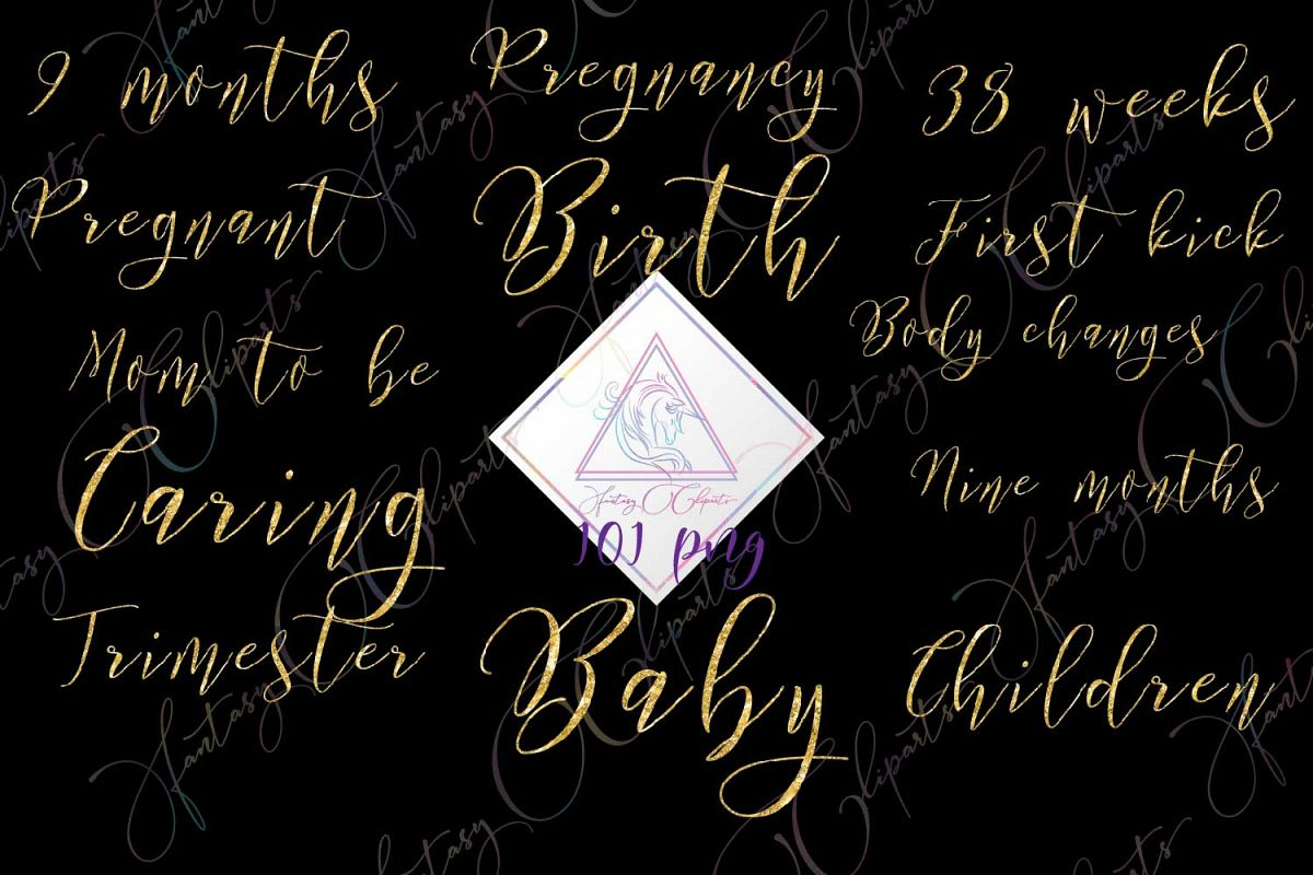 Pregnancy Word Art Clipart example image 1