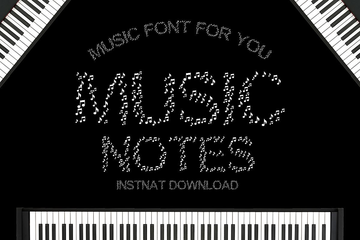 Music Notes - A Cute Educational Font example image 1