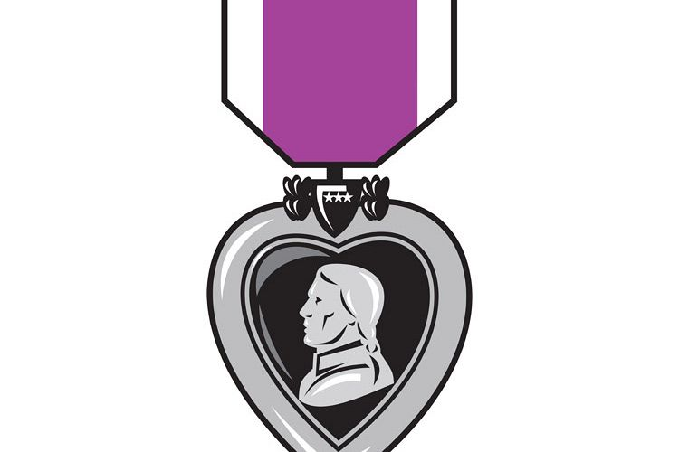 military medal of bravery valor purple heart example image 1
