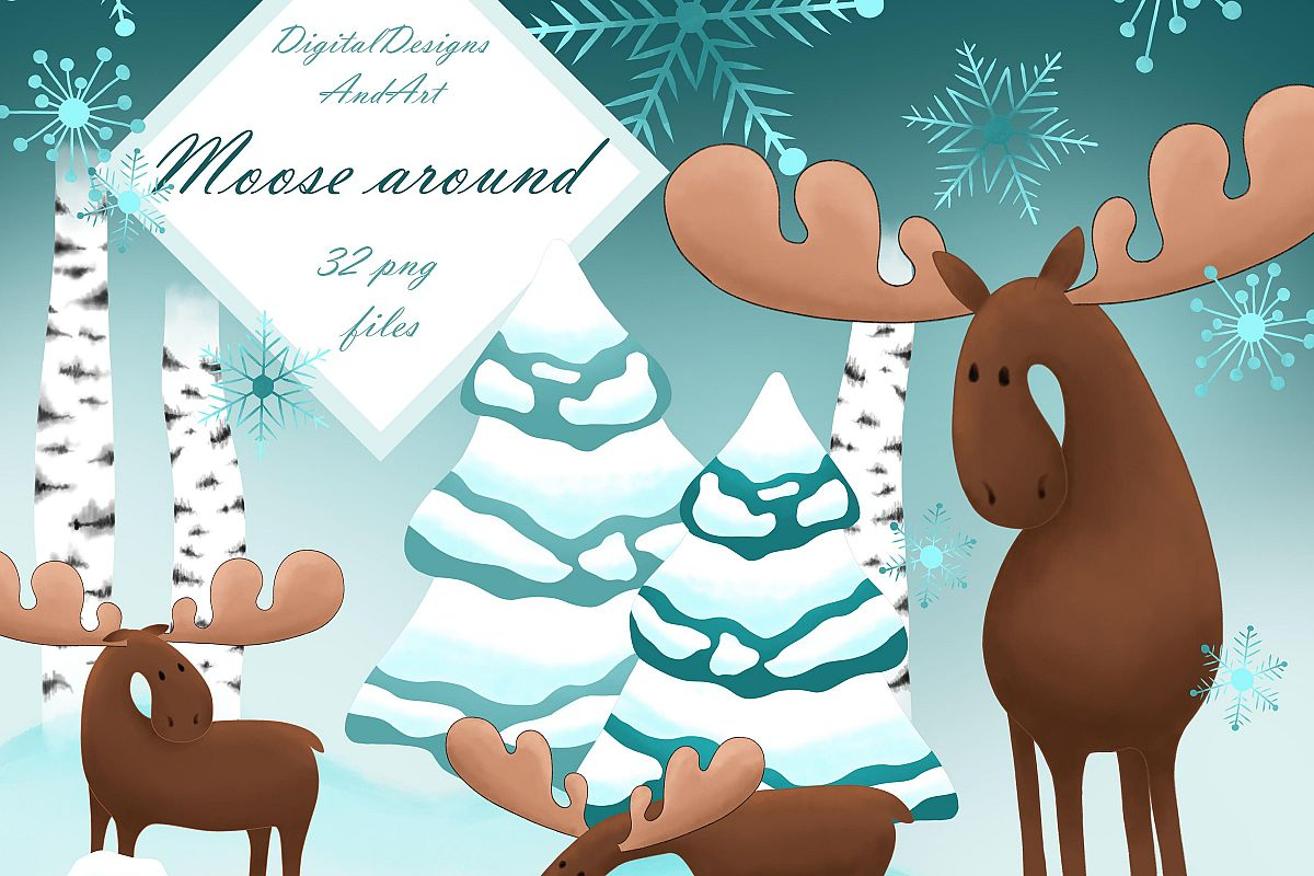 Moose clipart example image 1
