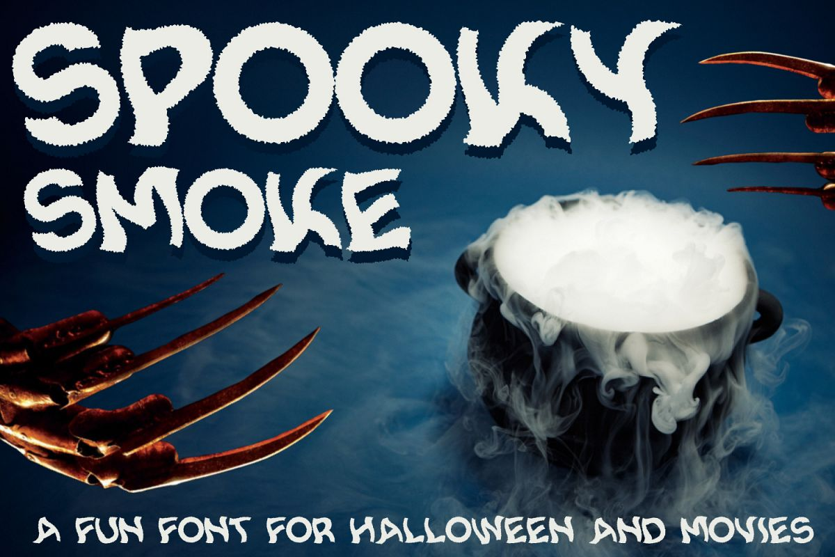 Spooky Smoke - Halloween & Twisted Font example image 1