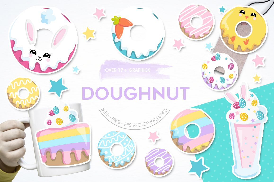 Doughnut graphic and illustrations example image 1