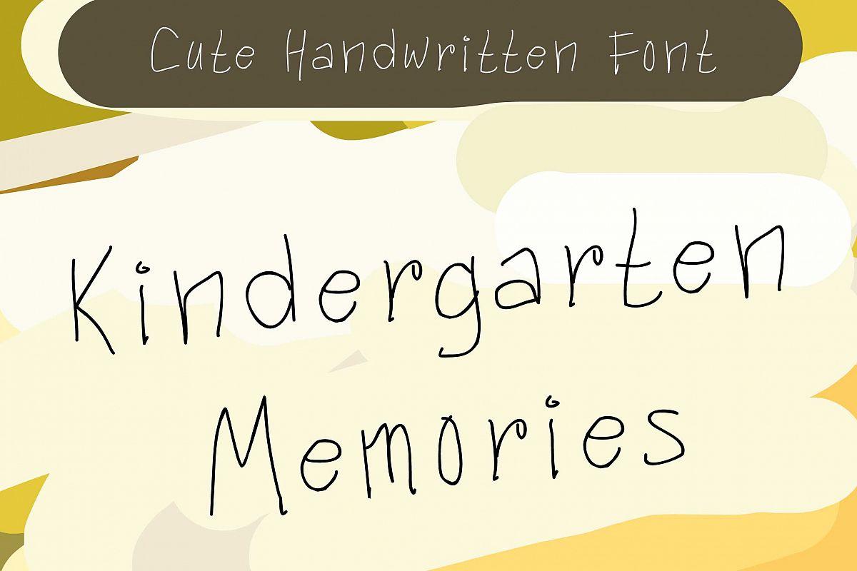 Kindergarten Memories example image