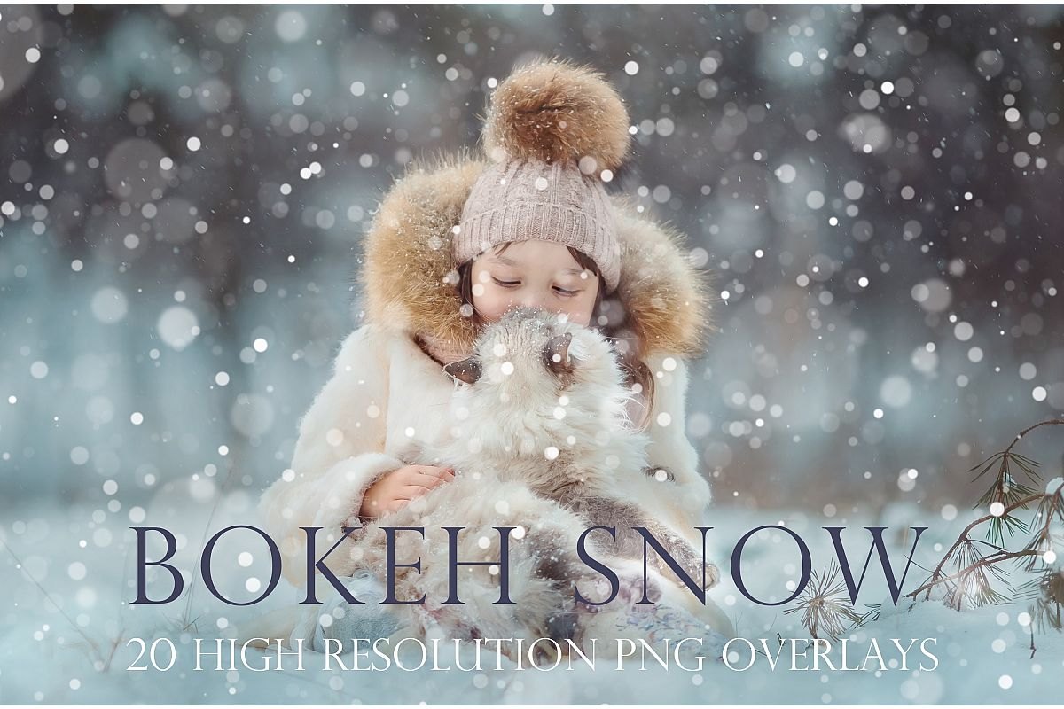 Bokeh snow overlays example image 1