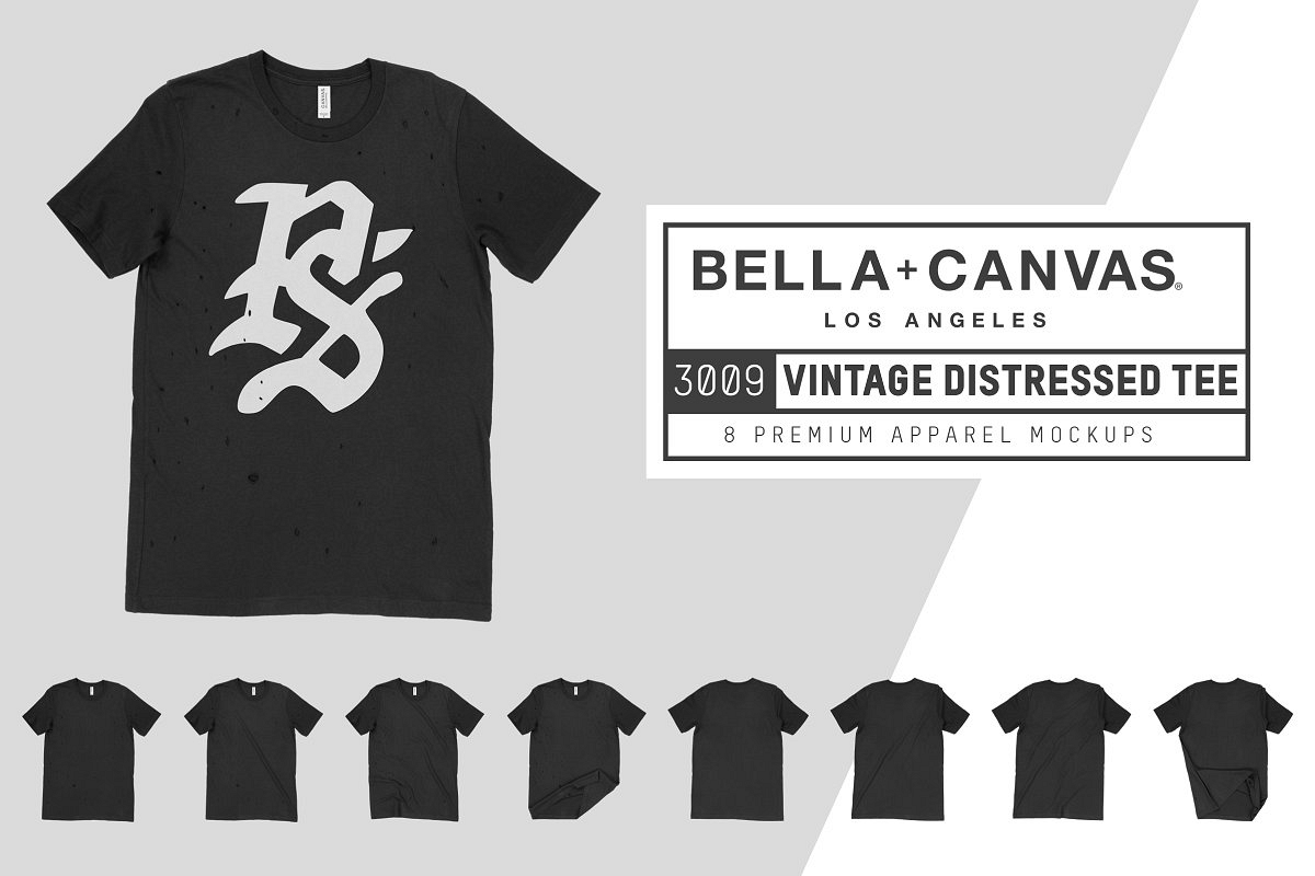 Bella Canvas 3009 Distressed T-Shirt example image 1